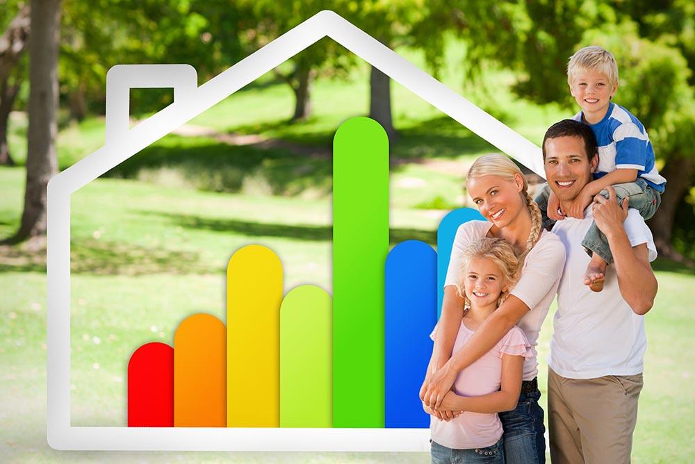 happy energy efficient family