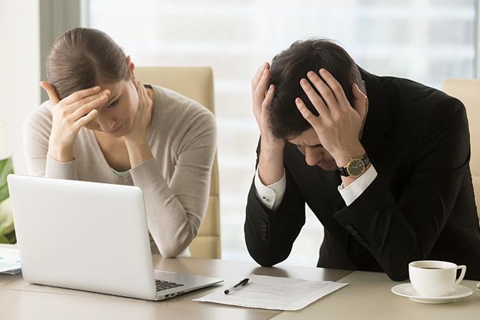 A couple struggle with finances